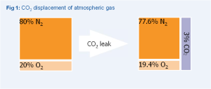 CO2 leak