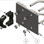 Stainless steel pipe mounting bracket kit