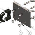 Stainless steel pipe mounting bracket kit