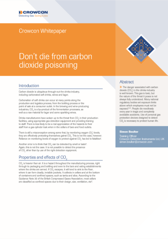 Don't die from carbon dioxide poisoning