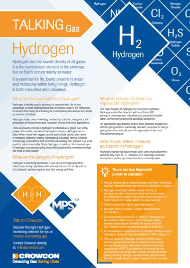 hydrogen factsheet